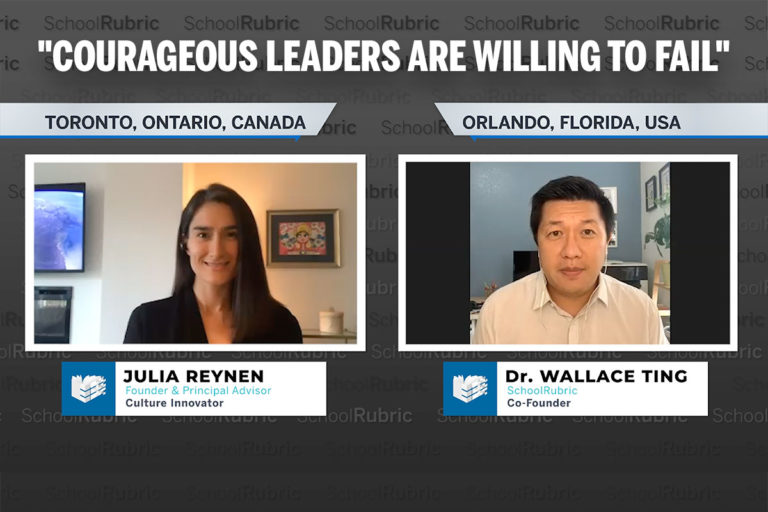 """""""Courageous Leaders are Willing to Fail"""" - Julia Reynen"""