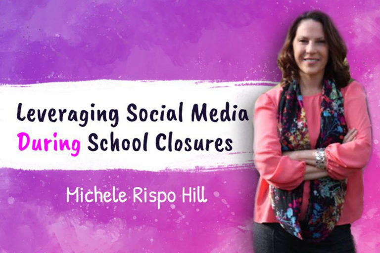 How can schools leverage social media platforms to connect with a broader audience during school closures?