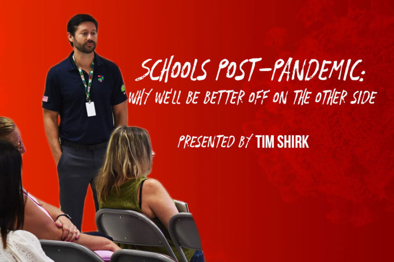 What will schools look like post-pandemic? Tim Shirk presents his case on why the future of classrooms looks brighter than ever.