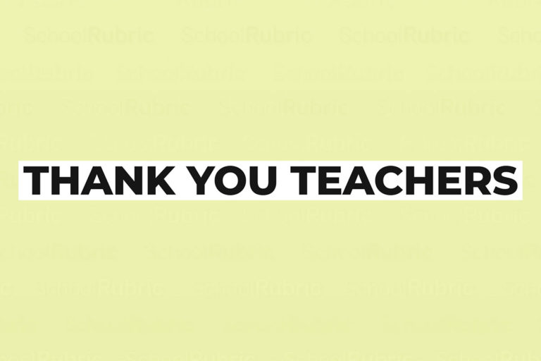 Thank You Teachers - Always Giving Your Best
