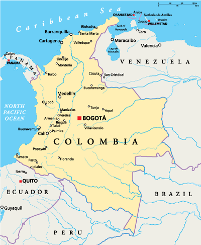 Bogotá is centrally located in the country, making for an ideal hub to explore other regions of Colombia.