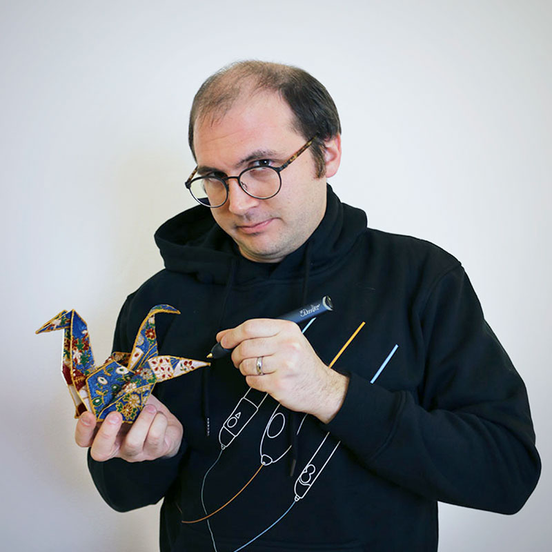 Maxwell Bogue, co-founder of WobbleWorks, Inc., the parent company of 3Doodler.