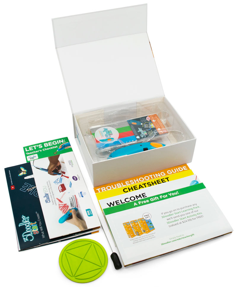 The 3Doodler Start Learning Pack includes instructions for educators to access high quality lesson plans that align with their district's curricular standards.