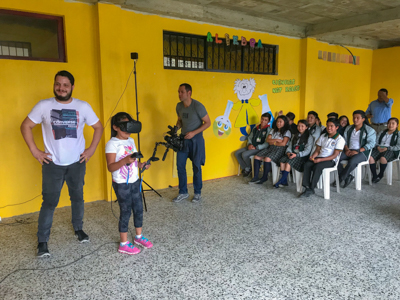 Students from Colegio Juan Wesley in Guatemala experience virtual reality for the first time. Through a donation and pilot program, students in rural and disadvantaged communities are provided access to resources and experiences otherwise unavailable.