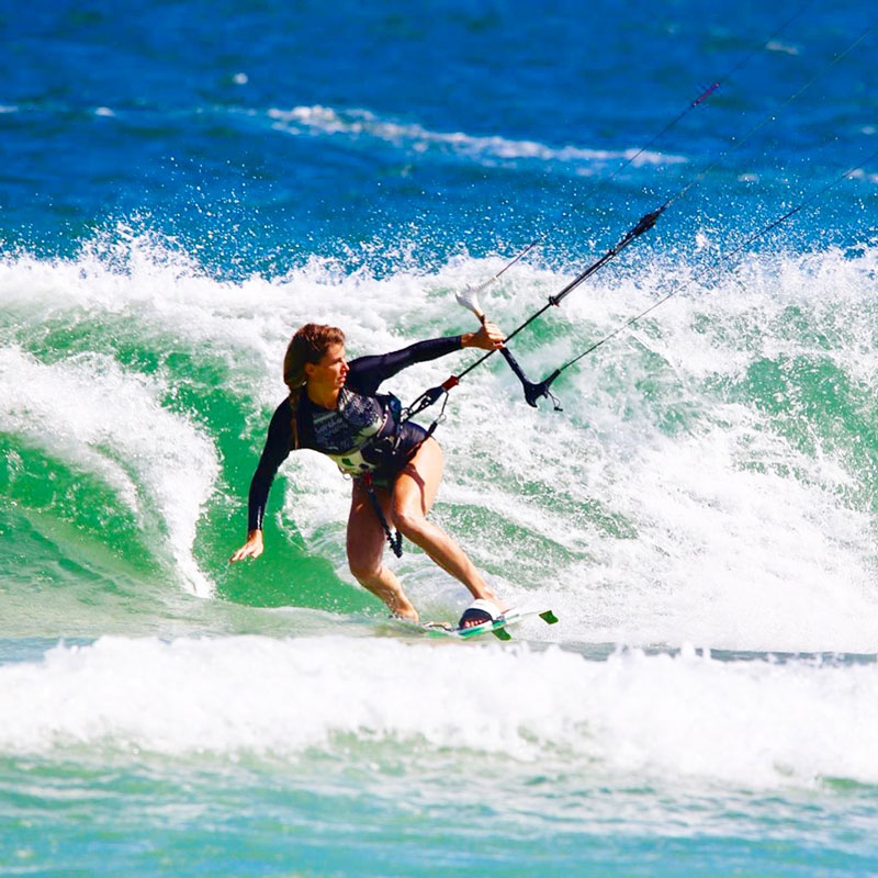 Rio de Janeiro offers green waves and great wind for intermediate riders.