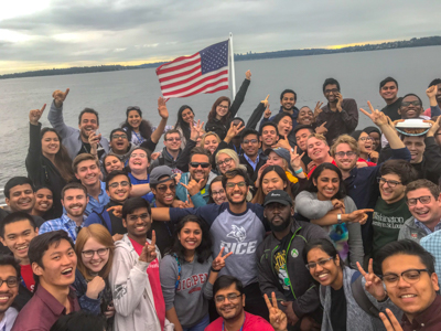 A boat event with many other interns during my unforgettable summer at Microsoft.