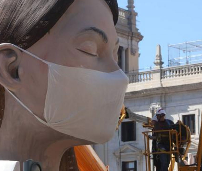 The main monument on the central plaza this year was a woman meditating. When it became evident that it would not burn as planned, they covered her face. She was burned secretly so as not to attract a crowd, but her head and shoulders were saved to burn as a later ceremony.