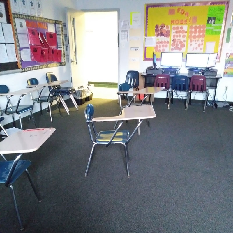 My final day in the classroom before school closings were announced. A view of empty seats which used to be filled by my nonverbal champions. Hopeful for the day these seats will be filled again.