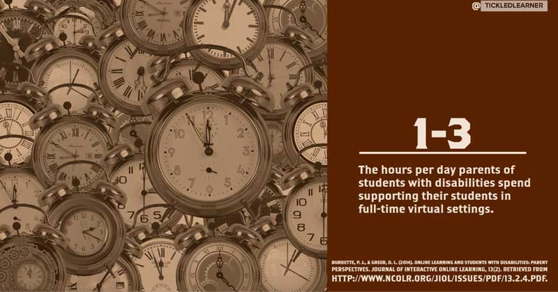 Hours Spent Supporting Students with Disabilities in Virtual Settings.