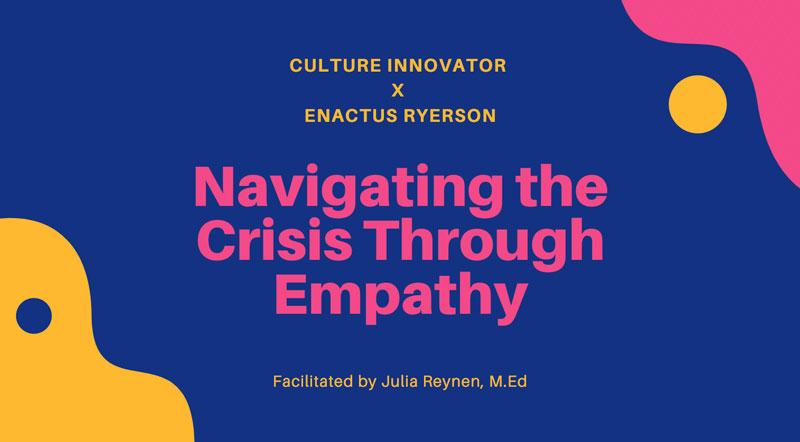 Exploring empathy with university students at Ryerson University, Toronto.