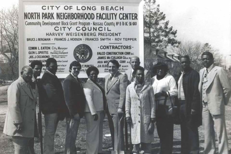 My dad, Alonzo Merkson Sr. meeting with political leaders in Long Beach, NY to discuss housing concerns.