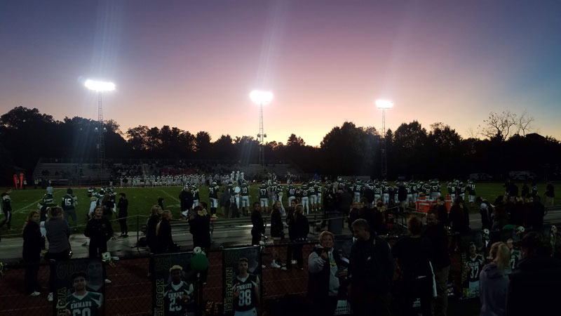 Hopefully, the students of Emmaus High School and all schools all around the world can return to the normalcy of community events like Friday night football games.